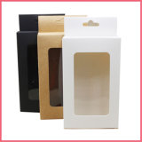 White Black Paperboard with Clear Window Hang Hole Packaging Boxes Kraft Gift Party Favors