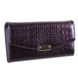 Factory Wholesale Fashion Leather Women Wallets Brand Name Clutch Bag