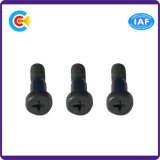 Black Zinc Carbon Steel/4.8/8.8/10.9 Fastener M12 Round Head Cross Screws