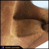 Cloth Imitating Synthetic PU Leather for Shoes Making Hx-S1704