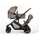 Manufacturer Wholesale Foldable Compact Pram Combos Detachable Double Twin Baby Stroller