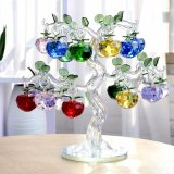 Christmas Gift Cfrats Home Decoration Crystal Apple Tree Made in China