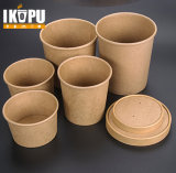 Disposable Kraft Paper Cup with Salad Bowl