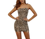 Sexy Evening Party Animal Digital Print Mini Dress for Women