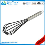 LFGB Certificate Commercial 5 Wires Kitchen French Silicone Whisk with Hook