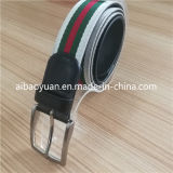 Leather Woven Fabric Combinate Waist Belt