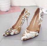 Summer Women Flower Pattern Shoes Women Heels
