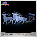 Moderate Price LED Christmas Outdoor Decoration Reindeer and Sleigh Light