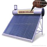 Pressurized Solar Water Heater with Copper Coil Inside The Tank