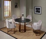Fashion Modern Home Coffee Table Chair Set Furniture Dining Room Sets One Table with 6 Chairs