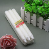 68g White Wax Fluted Candle for Decorations