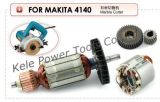 Armature, Stator, Gear Sets for Power Tools Makita 4140