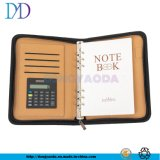 Black PU Leather Cover Embossed Logo Printing Writing Diary Vintage Custom Business Notebook Cheap Notebook with Pen