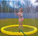 Sprinkler Toys for Kids, Inflatable Pool Toys, Water Spray Giant Ring Tube 68′′ Sprinkle and Spray Party Play Outdoor