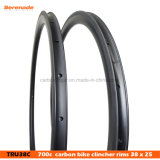 7-Tiger Lightweight 700c Carbon Road Rims 38m Depth 25mm Width Road Rims for Racing Bike