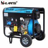 Air-Cooled Open Frame Type Diesel Generator Single Phase (DG8000E)