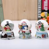 Snow Globe Crafts, Sculptured Resin Water Ball - Christmas Valentine's Day Birthday Holiday New Year's Gift