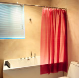 Plain Red Liner PEVA Shower Curtain for Bathroom