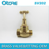 Brass Stop Valve Male ≃ Female with Brass Handle