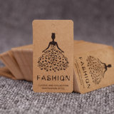Custom Fashion Design Special Shape Paper Hang Tag for Garment