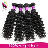 Wholesale Price 8A Deep Wave Remy Virgin 100% Human Brazilian Hair Weaving