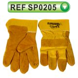 Industrial Safety Gloves Cow Split Leather Gloves Working Gloves (SP0205)