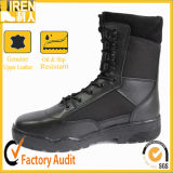 Genuine Leather Nylon Fabric Police Tactical Boots