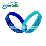 High Quality Debossed Color Filled Silicone Bracelets with Competitive Price
