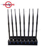 Power Adjustable 8 Antenna Mobile Signal Jammer, Eight Antenn Signal Blocker, Portable Stationary 8 Bands Jammer, 2g/3G/4G Cellphone GPS Lojack Jammer