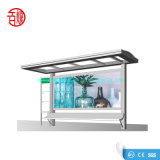 Outdoor Street Furniture Bus Stop Shelter Price with Advertising Light Box Design