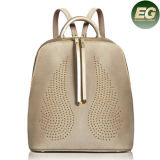 Fashion Designer Wings Studded Leather Backpack Travel Bag Ladies Bags Emg4869