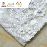 Exquisite Wedding Dress Lace Embroidery 3D Flower with Beads 129