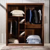 Custom Cherry Wood Bedroom Wardrobe Closet (GSP9-022)