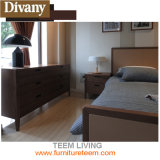 Wooden Latest Double Fabric Bed