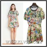 Designer Fashion Clothes Women Floral Printed Party Dress