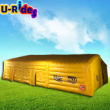 Air tight inflatable square cubic tent / 0.6mm PVC Inflatable sealed Tent for Outdoor
