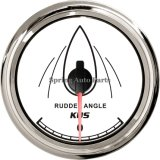 Sq 85mm Rudder Angle Gauge 0-190ohm/87-900ohm with Mating Sensor 12V 24V with Backlight