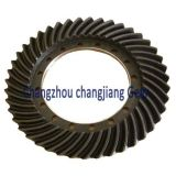 OEM Transmission Straight Teethed Bevel Helical Differential Gear with Keyway
