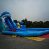 Giant Inflatable Slide with Pool (SL-061)