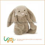 Customized Logo Lighter Brown Plush Bunny Doll