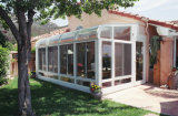 Villa Design Tempered Glass Aluminum Sun Room, Garden House with Double/Triple Fully Tempered Glass Sunroom