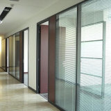 Price of Per Square Meter Office Aluminum Frame Double Glass Sound Proof Wall Partition