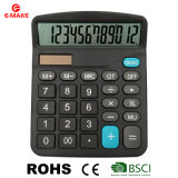12 Digits Desktop Solar Power Electronic Calculator Promotional Gift