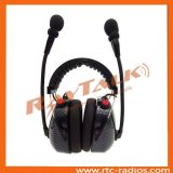 Carbon Fiber Headset with Dynamic Microphone Double Boom Microphone