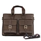 Computer Man Business Laptop Leather Tote Handbag Fashion Briefcase Bag (MD28103)