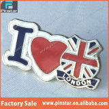 Factory Directly Wholesale High Quality Custom Souvenir I Love London with Union Jack Custom Made Badge