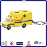 China Supplier Cheap Anti-Stress PU Ambulance Keychain