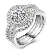 Wholesale 925 Sterling Silver Engagement Ring with 3A CZ Setting