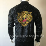Custom Embroidery Logo Fashion Valour Satin Jacket with Buttons