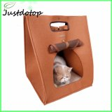 Hot Selling 100% Wool Felt Travel Pet Bed with Tote for Cat